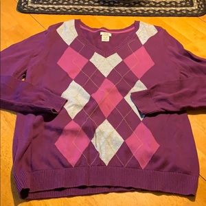 Izod argyle sweater